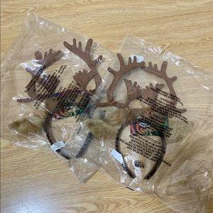 NWT Reindeer Antler Headband Bundle